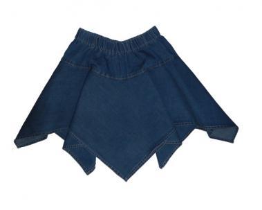 Юбка из облегченной джинсы